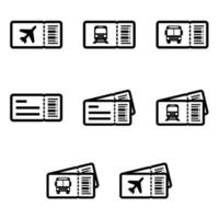 Transport Tickets Icon Set