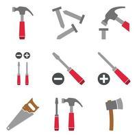 Hardware-Tools-Icon-Set vektor