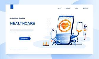 Landingpage-Vorlage für das Gesundheitswesen mit Header