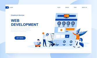 Web Development Landing Page Template mit Header