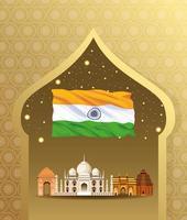 Indiens nationella monumentbyggnadsarkitektur vektor