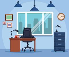 Geschäftsstelle am Arbeitsplatz vektor