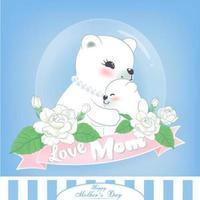 Mutter und Kind lieben am Muttertag vektor