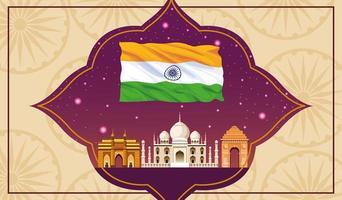 Indien som bygger arkitekturlandskapskoncept
