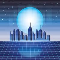 digital stadsbild bakgrund vektor