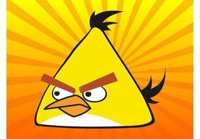 Gul Angry Bird vektor