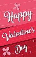 glückliche Valentinstagkarte mit Blumen vektor