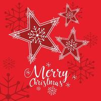 dekorative Sterne der frohen Weihnachten vektor