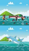 Meeresreinigung Cartoons