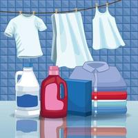 hushållning och rengöringsutrustning vektor