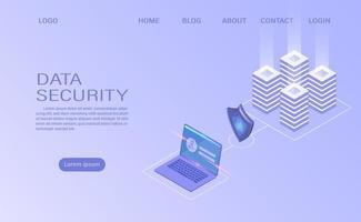 Skydda datasäkerhetsbegreppet vektor