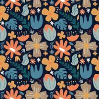 Blume große Blüte nahtlose Muster Hintergrund