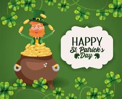 St Patrick man med etikettdekoration och klöver