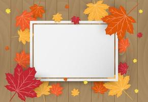 Lycklig tacksägelsedagsfirande kort med orange lönnhöstlöv