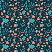Nahtloses Muster des Blumennaturlaubs