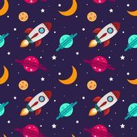 Seamless mönster på temat rymden. vektor