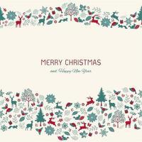 Weinlese-Weihnachtshintergrund mit Text für Grußkarte, dekorativ vektor