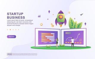Startup affärsillustration koncept.