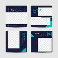 Navy and Teal Social media post mall
