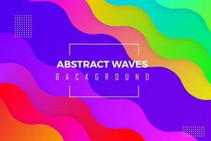 Abstrakter bunter Wellen-Hintergrund