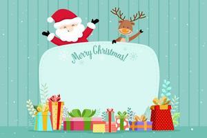 Weihnachtsgrußkarte mit Sankt und Ren