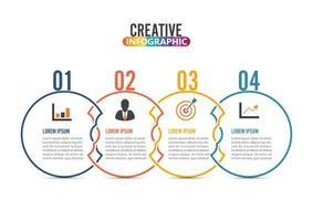 Infografikonstruktionsvektor och marknadsföringsikoner
