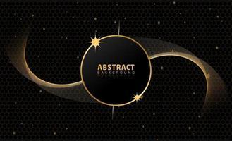 Abstrakter schwarzer Goldhintergrund vektor