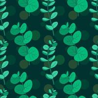 Eucalyptus handritad sömlös vintage mönster vektor