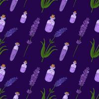Lavendel Hand gezeichnetes nahtloses Muster der Weinlese vektor