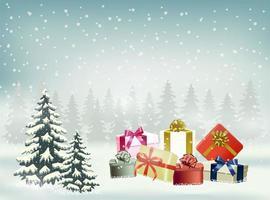 Weihnachten und guten Rutsch ins Neue Jahr-Hintergrund