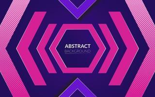 ebstrakter Hintergrund mit Neon- und Purpurfarbthema und Hexagon