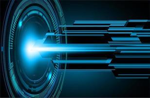 Zukünftiges Technologiekonzept des blauen Cyberstromkreises vektor