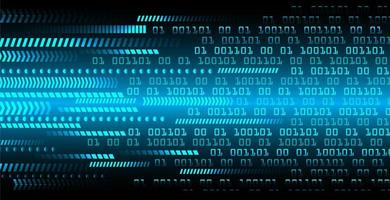 Blaues Konzept der binären Cyber-Schaltung