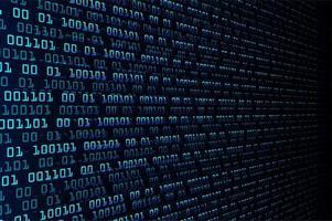Blå binär cyberkrets