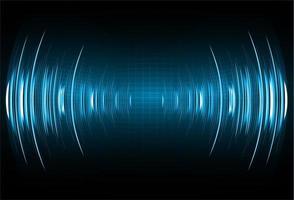 Schallwellen, die dunkelblaues Licht oszillieren vektor