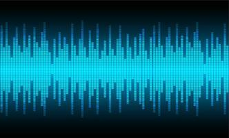 Ljudvågor oscillerande blått ljus vektor