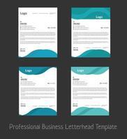 professionell mall för affärsbrevpapper