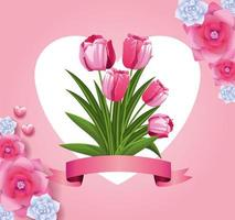 vackra blommor kort