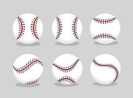 Baseball Ballsport auf Profimannschaft einstellen vektor