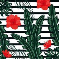 Blommig bakgrund för tappning vektor