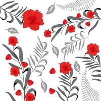Blumenmuster Hintergrund vektor