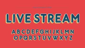 Färgglada fet rundade stora bokstäver typografi