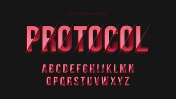 Abstrakt futuristisk skivad typografi vektor