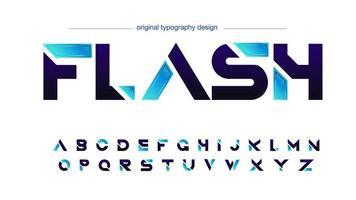 futuristisk sportblått skivad typografi vektor