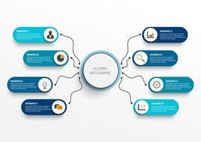 Infographik Vorlage mit 3D Papieretikett