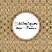 Vintage quadratische Form Muster vektor