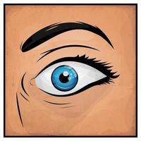 Serietidningar Woman Eyes vektor