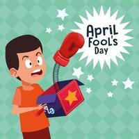April dårar dag tecknad vektor