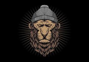 Lejonhuvudvektorillustration vektor