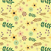 Blommig bakgrundsdesign vektor
